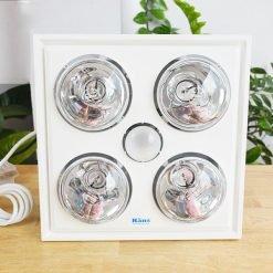 Đèn sưởi nhà tắm Hans bốn bóng âm trần H4B