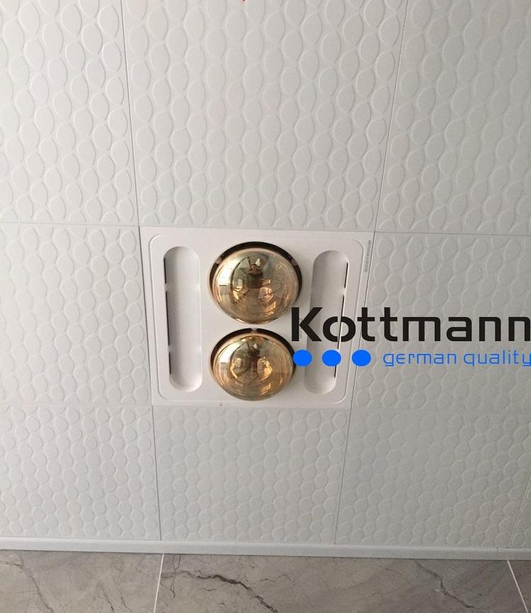 Đèn SưởiNhà Tắm 2 Bóng Âm Trần Kottmann (K-9S):