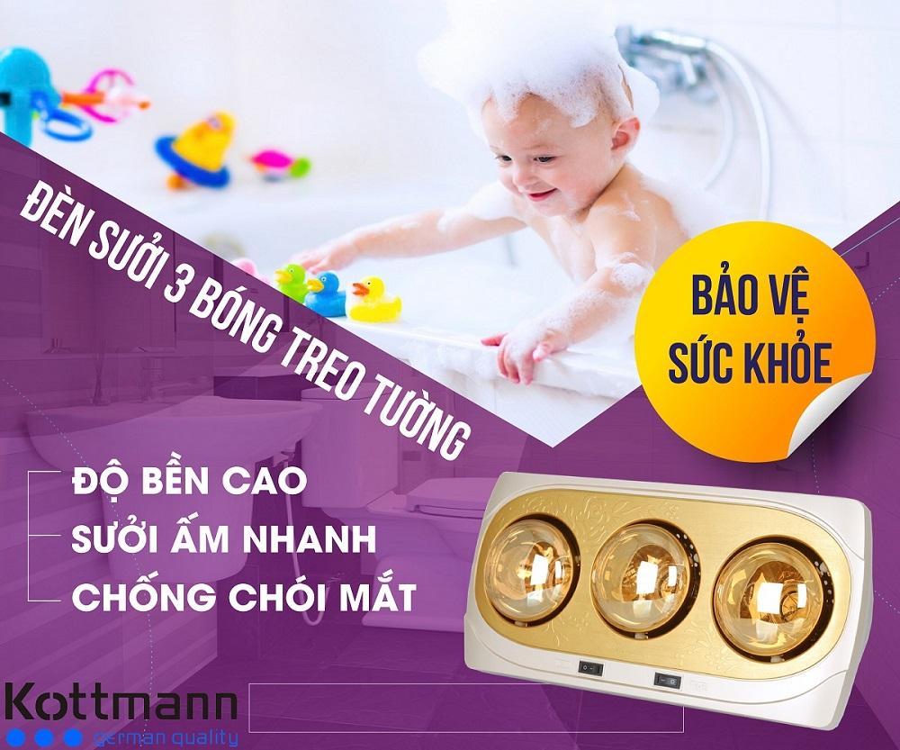 Ứng dụng của đèn sưởi nhà tắm K3BNV Kottmann