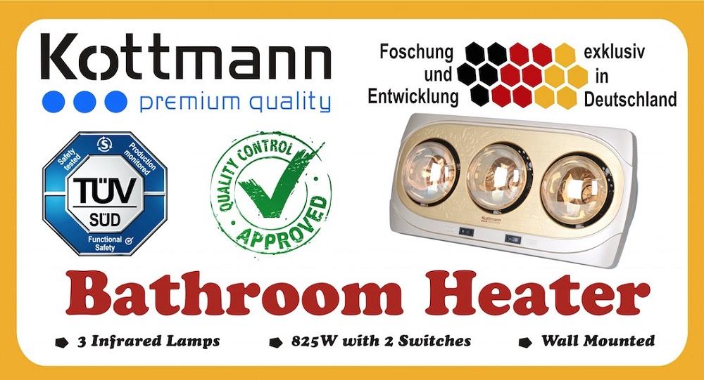 Vỏ hộp đèn sưởi nhà tắm K3BNV Kottman